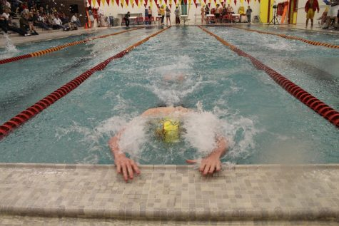 Boys Swimming Dives to a Second Place Finish at Metros