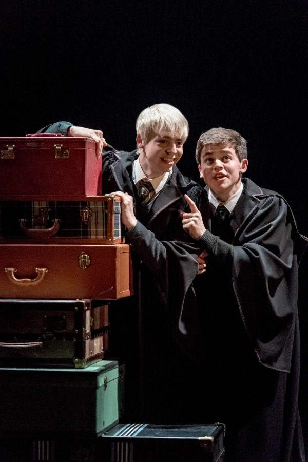 Albus Severus Potter, played by Sam Clemmett and Scorpius Malfoy, played by Anthony Boyle