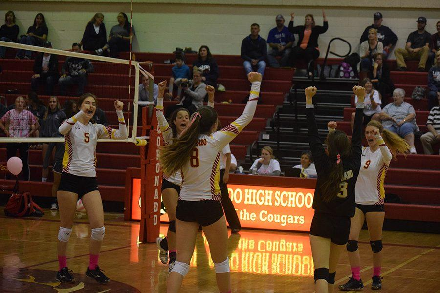 Jaelyn Hershberger lead the Cougars to a Pink Out win against Liberty.