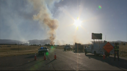 Beulah Hill Fire Burns for Almost a Week