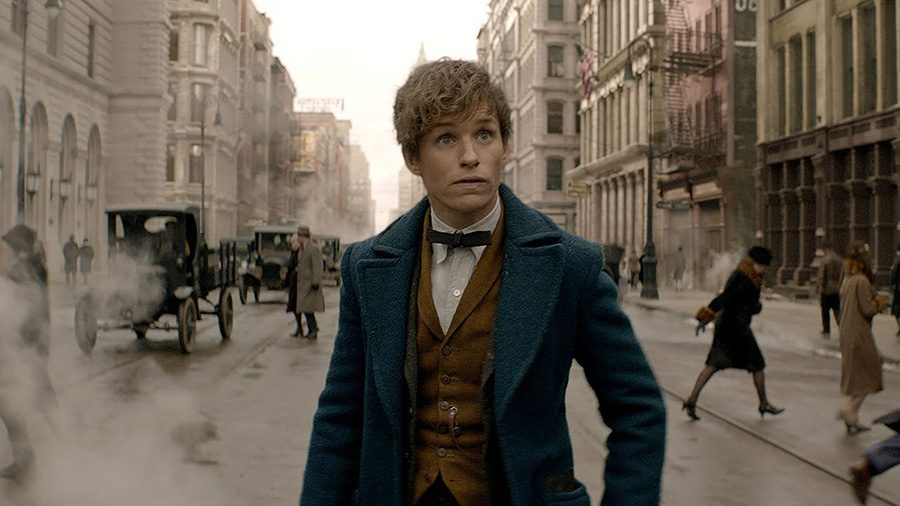 Eddie Redmayne plays Newt Scamander in the latest addition Harry Potter Universe.