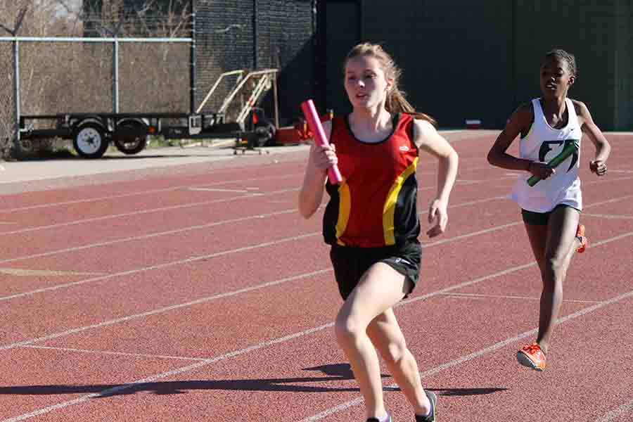 Want to be as fast as junior Taylor Dutton? Come to preseason track workouts starting January 17th!