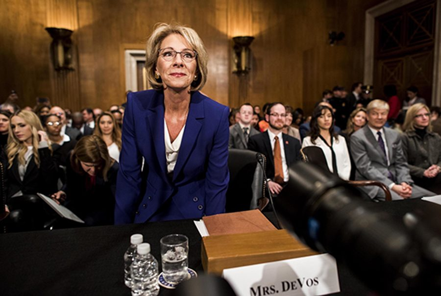 Betsy DeVos at her confirmation hearing.