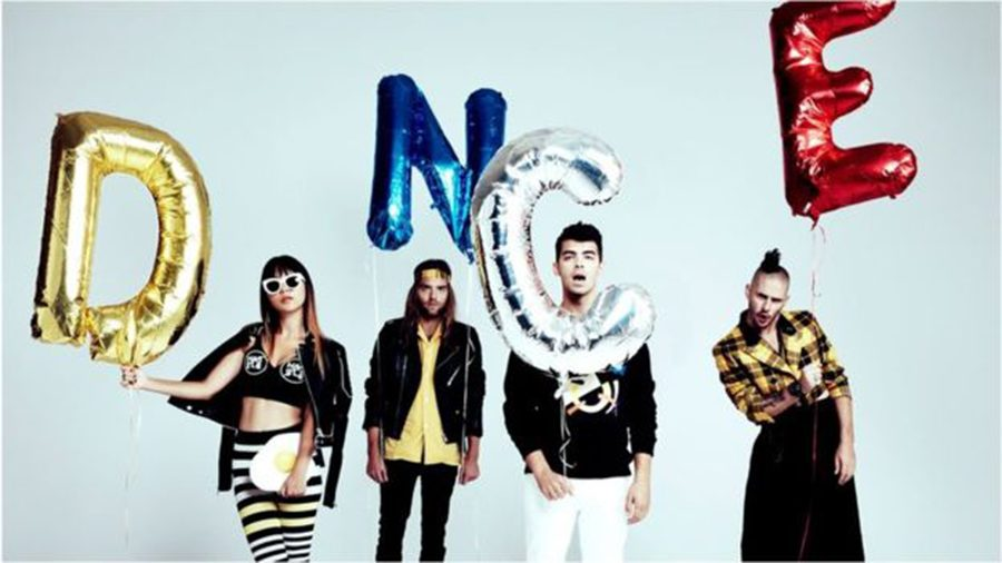 The+band+DNCE+consists+of+members+%28left+to+right%29+Jinjoo%2C+Jack%2C+Joe%2C+and+Cole.