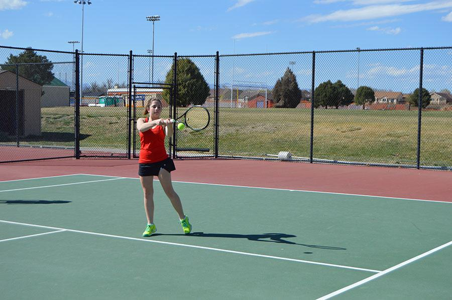 Savannah Leifer, 12, hopes to have another outstanding tennis season this year in #1 singles.