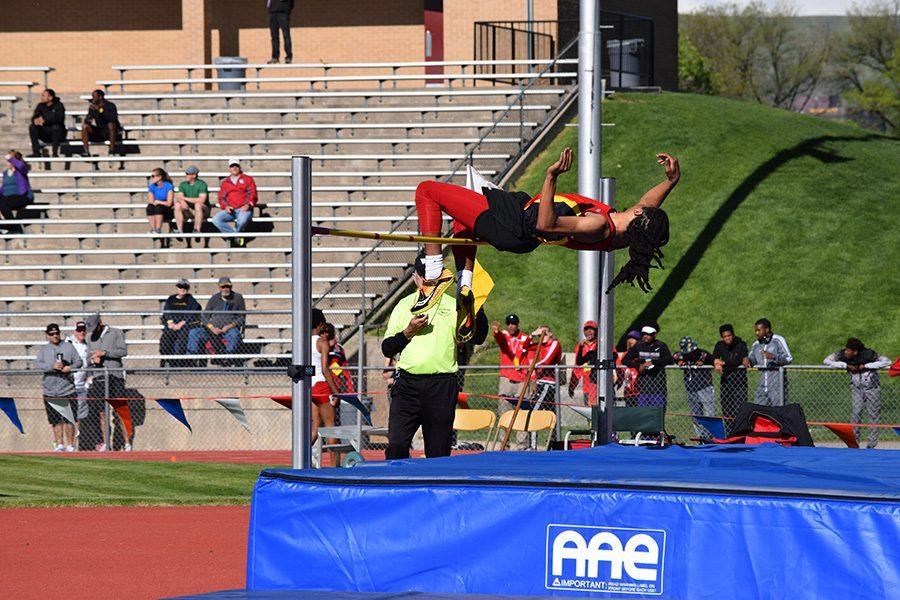 Jaydon Lewis had one of the Cougars many great performances at their first meet of the 2017 season.