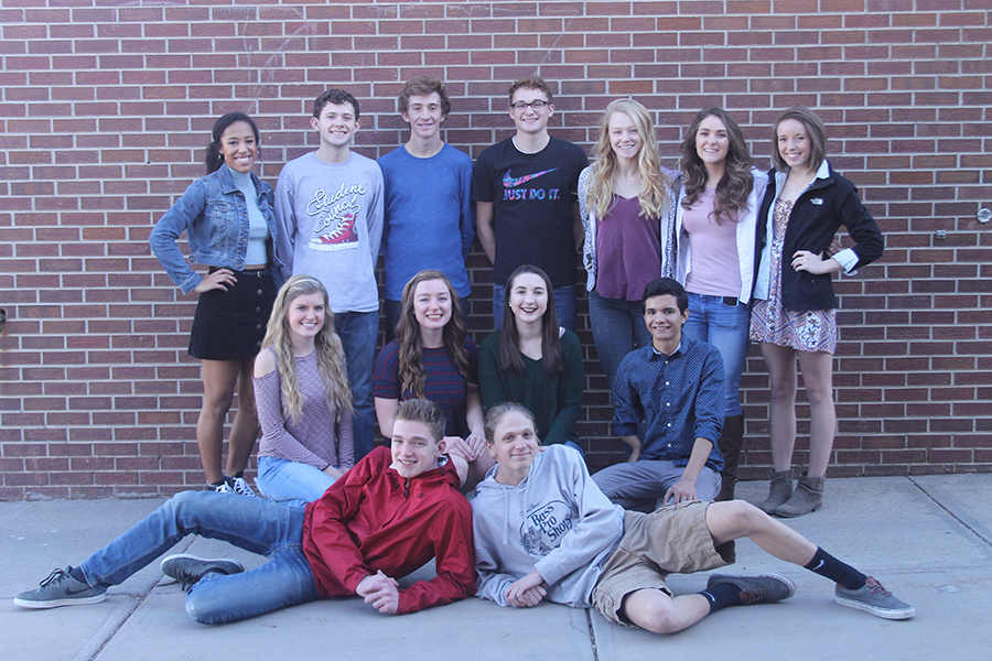 Coronado's 2016-2017 Student Cabinet, featuring Katrice White, 12, Tegan Gough, 12, Conor Strizich, 11, Joey Callan, 12, Aly Archidale, 12, Lauren Hugill, 12, Jillian Shea, 11, Timber Alley, 12, Clara Thompson, 11, Holly McKibbon, 12, Phillip Cyprian, 12, Beau Thompson, 10, and Ben Velasquez, 10.