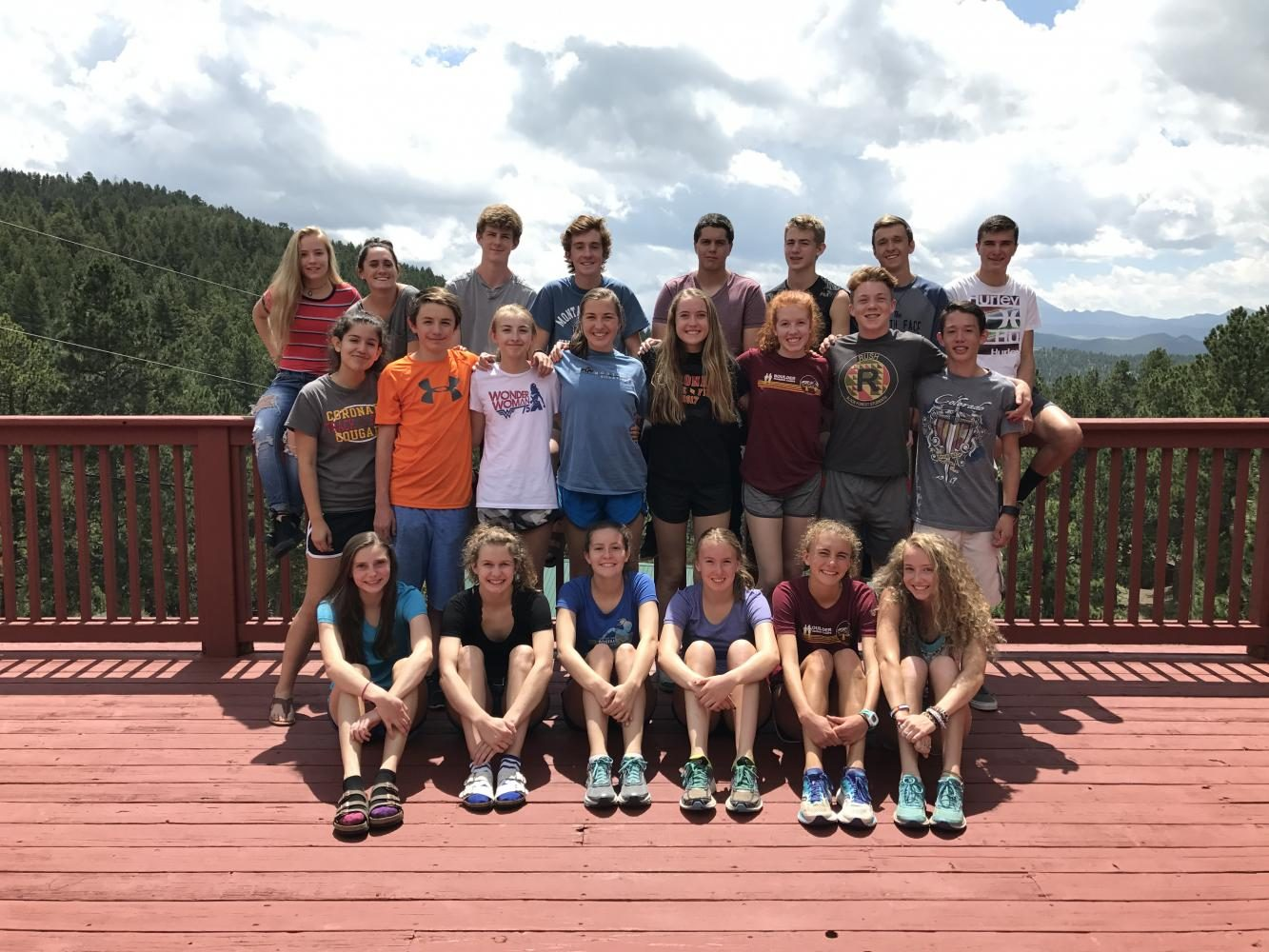 Some of the Coronado Cross Country team poses for a picture after three days of training at Quaker Ridge.