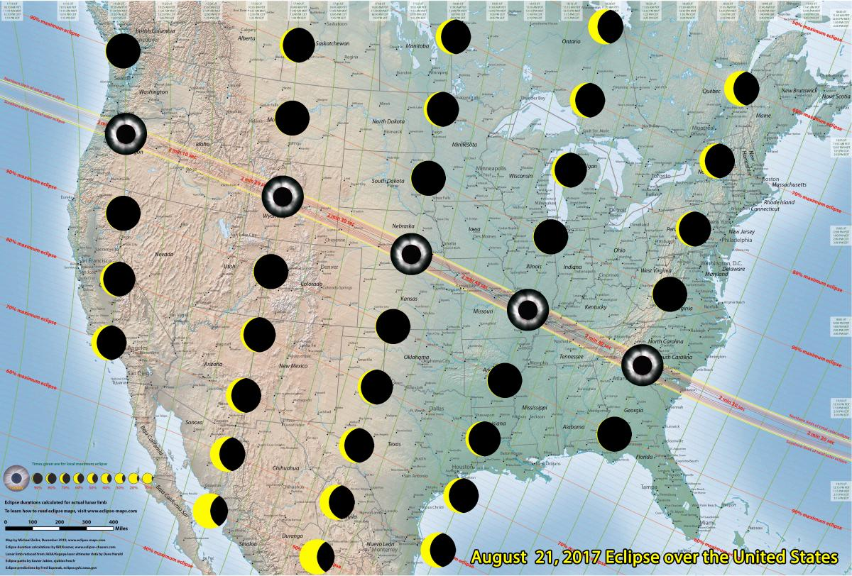 2017 Eclipse Map Partial.Great American Eclipse Covers Coronado The Cougar Daily