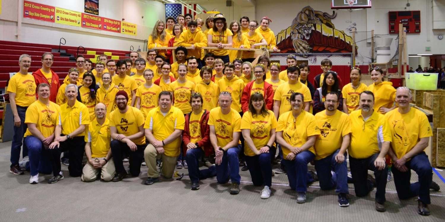 All of team 2996 last year at the teams annual scrimmage.