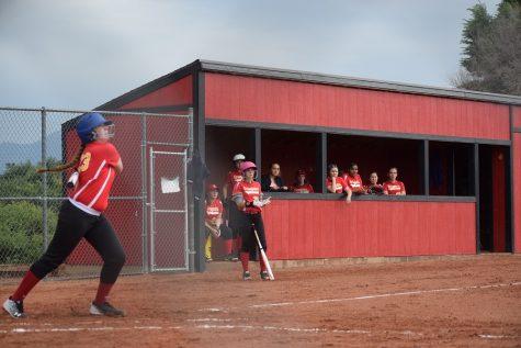Erica Burkhart, 12, with her eye on the ball.