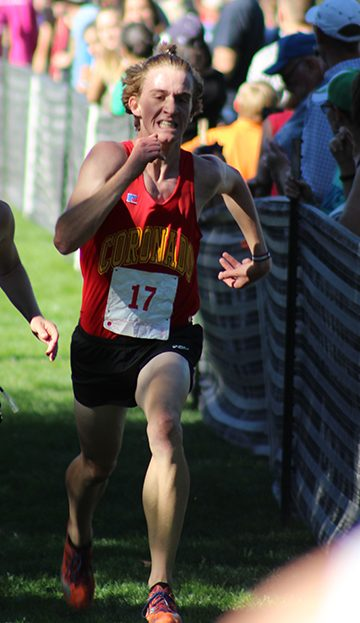 Conor Strizich, seen here at the Cougar Classic, was the top finisher for the boys at Doherty's Spartan Invite with a time of 17:05.