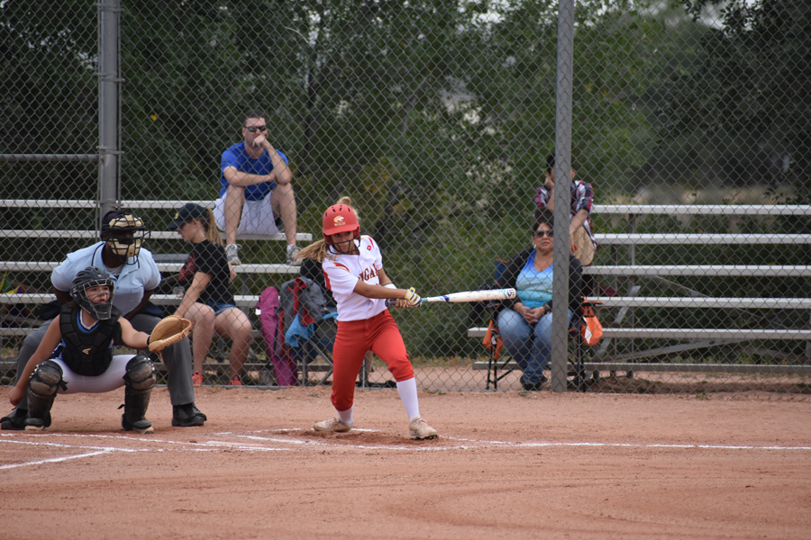 Navaeh+Santisteven+has+a+hit+contributing+to+her++2-4+batting+average+against+Widefield+High+School.