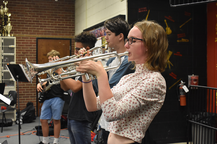 Band president Chloe Cassens doesn't need to toot her own horn.  The band elections did that for her!