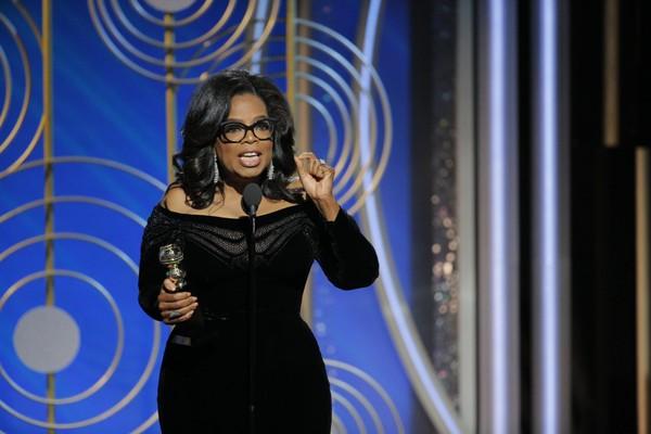 Oprah Winfrey at the 2017 Golden Globes
