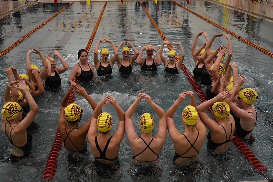 The+swim+team+harnessed+the+talent+of+both+talented+underclassmen+and+seasoned+veterans+for+a+great+season.