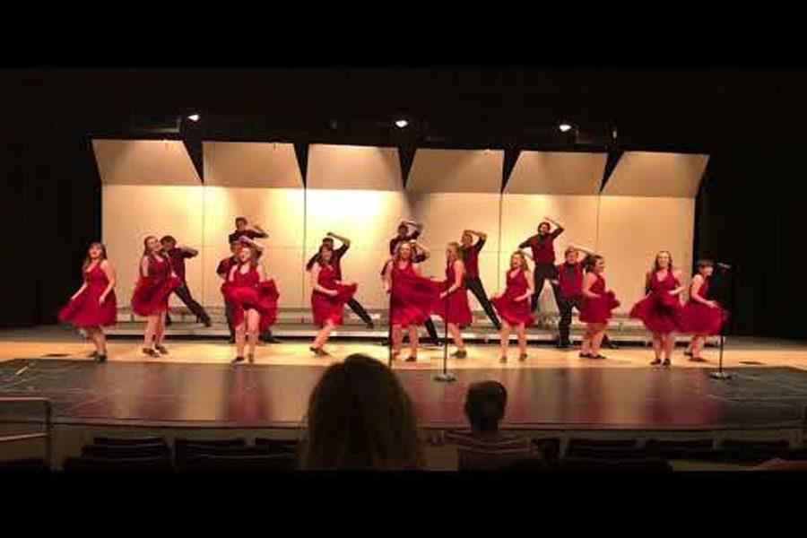 Coronado's show choir performing one of their songs.