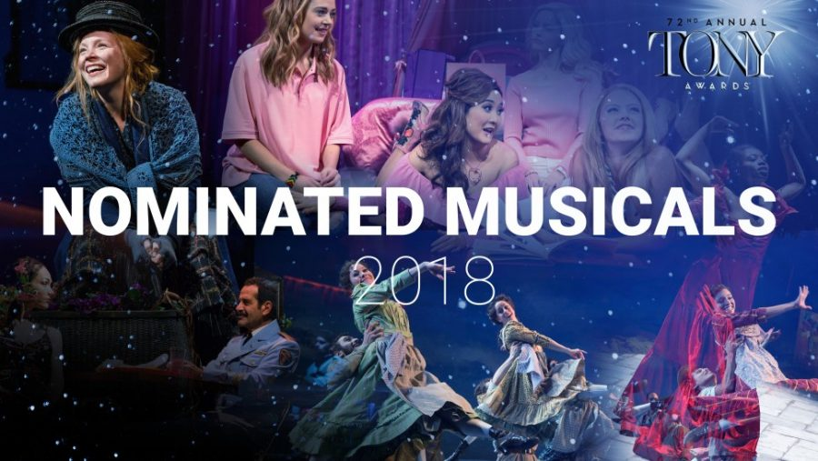 My+Fair+Lady%2C+Mean+Girls%2C+The+Bands%27+Visit%2C+Carousel%2C+and+Once+On+This+Island+are+some+of+the+nominated+musicals.+Photo+from+Playbill