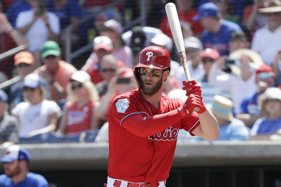 Bryce+Harper+gets+ready+for+an+at+bat+in+Spring+Training.
