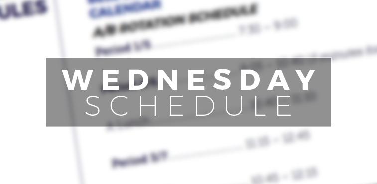 New Wednesday Schedule