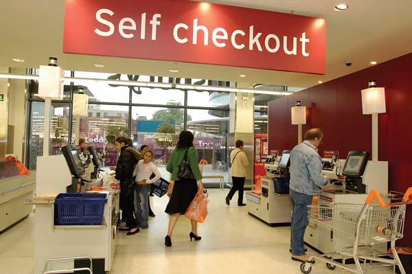 Do self-checkouts kill jobs?